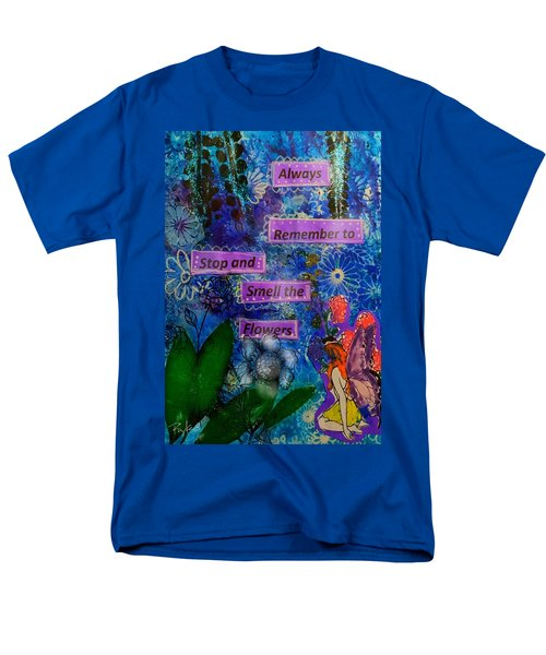 Smell The Flowers...... Men's T-Shirt  (Regular Fit) by Diana Riukas