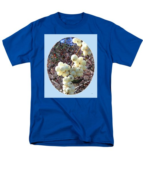 Men's T-Shirt  (Regular Fit) featuring the photograph Snowberry Cluster by Will Borden