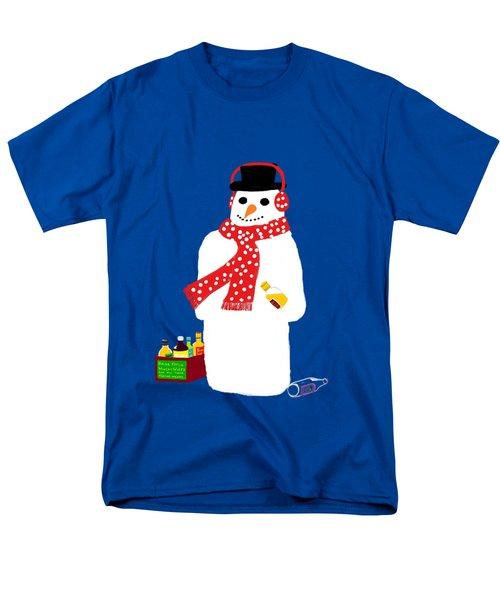 Snowman Men's T-Shirt  (Regular Fit) by Barbara Moignard