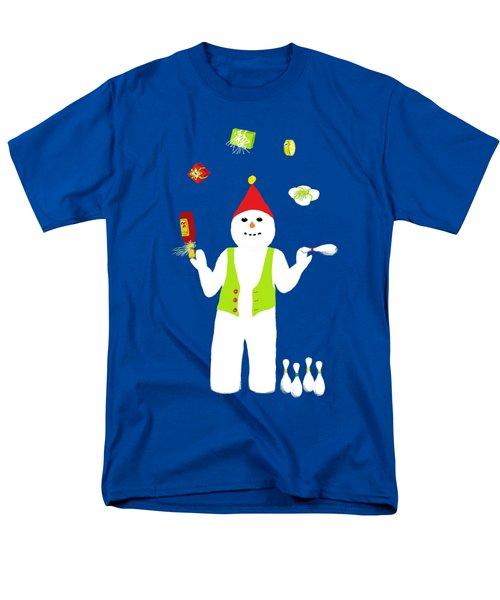 Snowman Juggler Men's T-Shirt  (Regular Fit) by Barbara Moignard