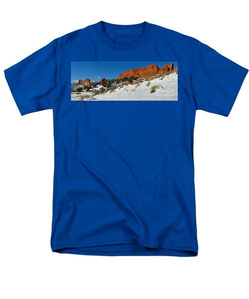 Men's T-Shirt  (Regular Fit) featuring the photograph Snowy Fields At Garden Of The Gods by Adam Jewell