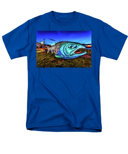 Soul Salmon During Blue Hour Men's T-Shirt  (Regular Fit) by Rob Green