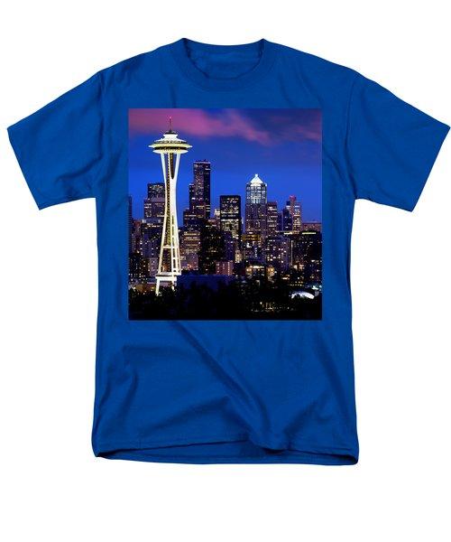 Space Needle At Night  Men's T-Shirt  (Regular Fit)