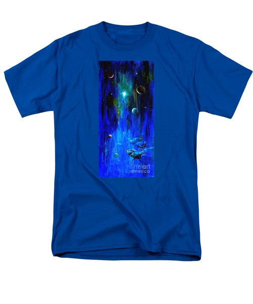 Space Shark Men's T-Shirt  (Regular Fit) by Arturas Slapsys