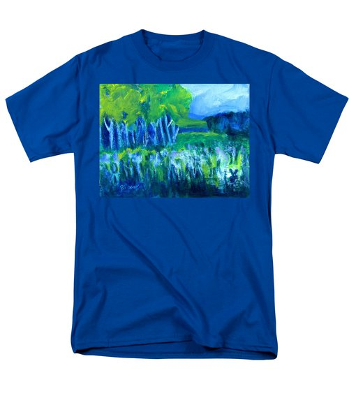 Men's T-Shirt  (Regular Fit) featuring the painting Spring Coming by Betty Pieper