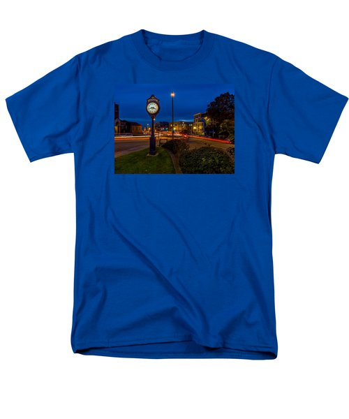 Men's T-Shirt  (Regular Fit) featuring the photograph Stadium Clock During The Blue Hour by Rob Green