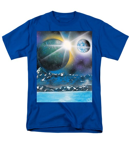 Men's T-Shirt  (Regular Fit) featuring the painting Star Burst by Greg Moores