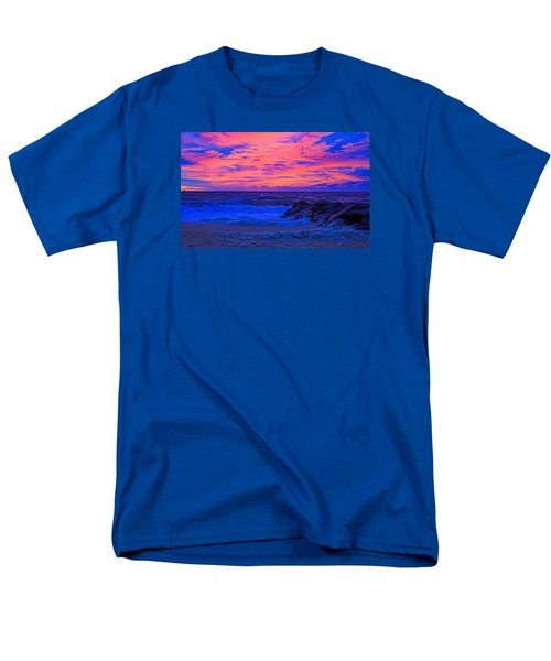 Sun Rays Painted Sky Men's T-Shirt  (Regular Fit) by Allan Levin