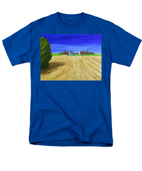 Men's T-Shirt  (Regular Fit) featuring the painting Sunny Fields by Jo Appleby