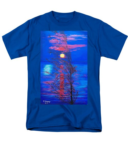 Men's T-Shirt  (Regular Fit) featuring the painting Sunrise Silhouette by Sharon Duguay