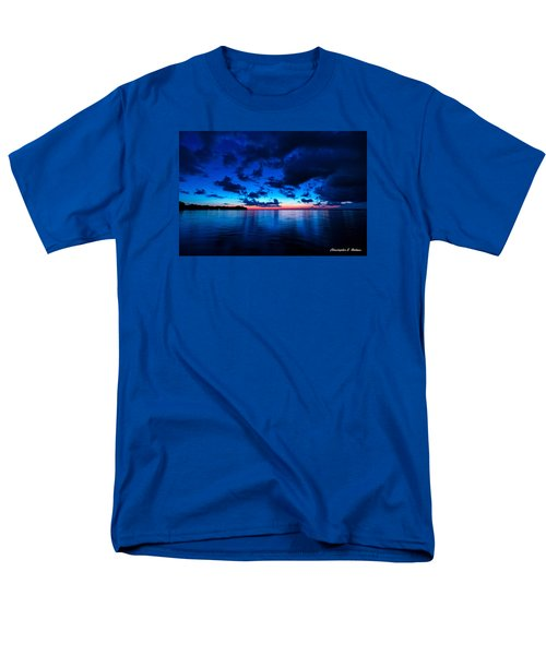 Men's T-Shirt  (Regular Fit) featuring the photograph Sunset After Glow by Christopher Holmes