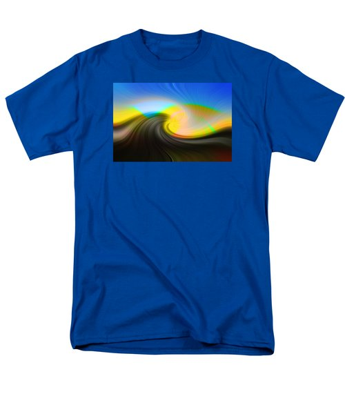 Men's T-Shirt  (Regular Fit) featuring the photograph Sunset Over The Lake by Lewis Mann