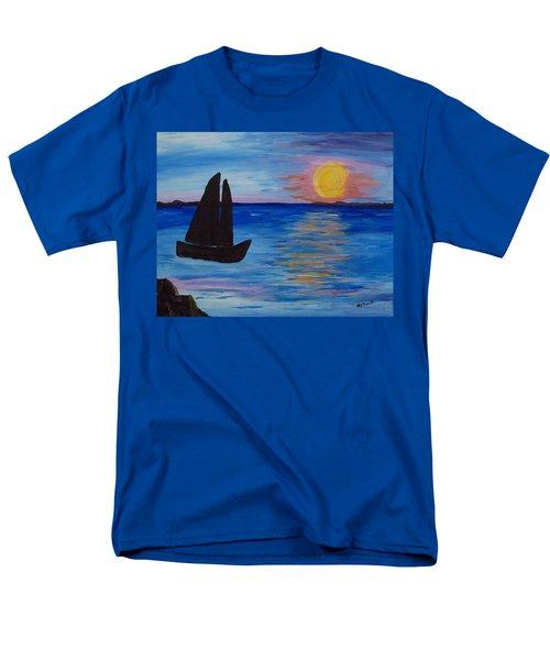 Sunset Sail Dark Men's T-Shirt  (Regular Fit) by Barbara McDevitt