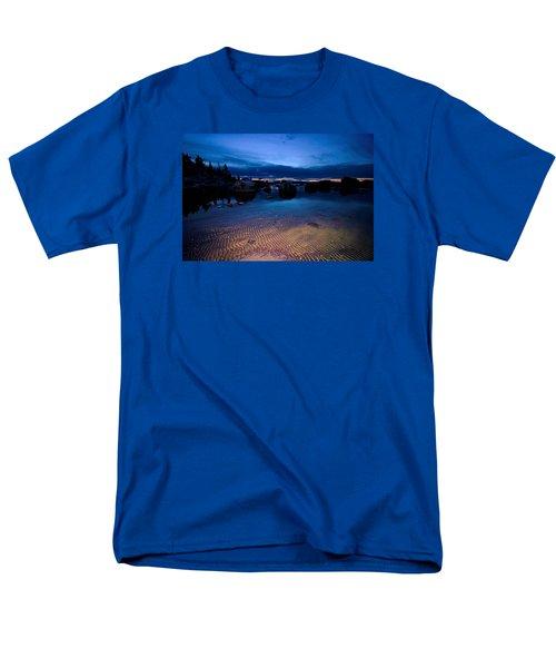 Sunset Sand Ripples Men's T-Shirt  (Regular Fit) by Sean Sarsfield