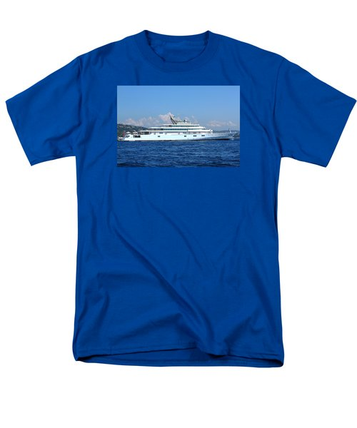 Men's T-Shirt  (Regular Fit) featuring the photograph Super Yacht by Richard Patmore