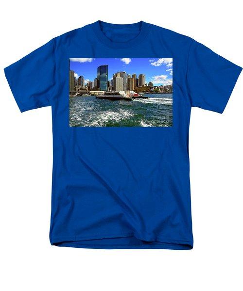 Sydney Skyline From Harbor By Kaye Menner Men's T-Shirt  (Regular Fit)