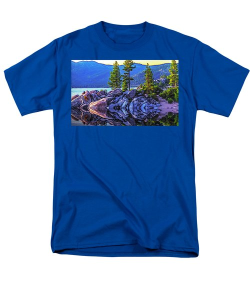 Tahoe Water Reflections Men's T-Shirt  (Regular Fit) by Nancy Marie Ricketts