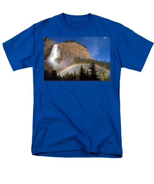 Takakkaw Falls B C Canada   Men's T-Shirt  (Regular Fit) by Rod Jellison
