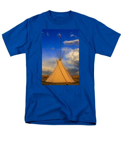 Tepee At Sunset In Montana Men's T-Shirt  (Regular Fit) by Chris Smith