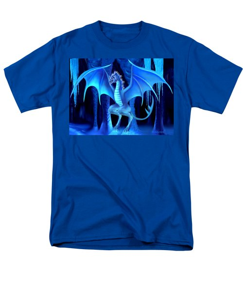 The Blue Ice Dragon Men's T-Shirt  (Regular Fit) by Glenn Holbrook