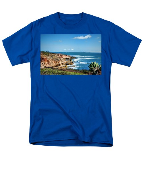 The Cliffs Of Point Loma Men's T-Shirt  (Regular Fit) by Daniel Hebard