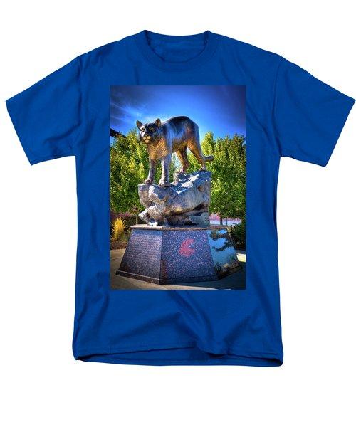 The Cougar Pride Sculpture Men's T-Shirt  (Regular Fit) by David Patterson