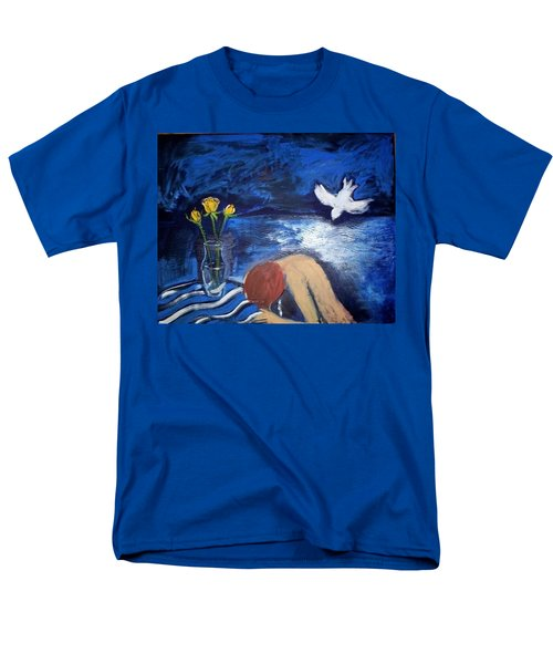 Men's T-Shirt  (Regular Fit) featuring the painting The Healing by Winsome Gunning