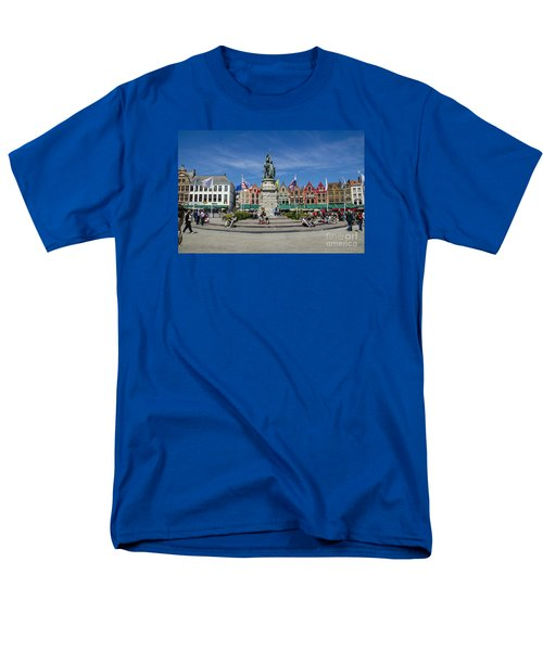 Men's T-Shirt  (Regular Fit) featuring the photograph The Markt Of Bruges by Pravine Chester