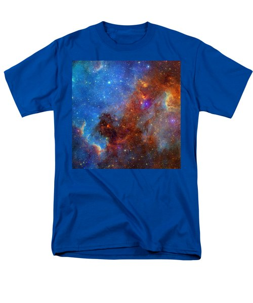 Men's T-Shirt  (Regular Fit) featuring the photograph The North America Nebula In Different Lights by NASA JPL - Caltech