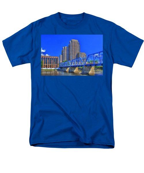 The Old Blue Bridge Men's T-Shirt  (Regular Fit) by Robert Pearson
