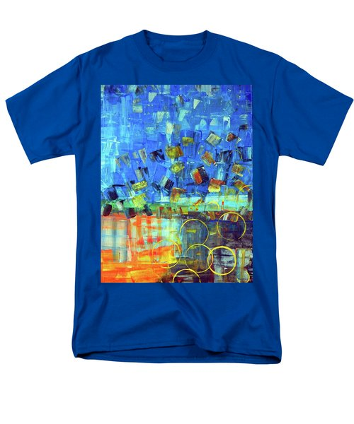 Men's T-Shirt  (Regular Fit) featuring the painting The Sky Fell by Everette McMahan jr