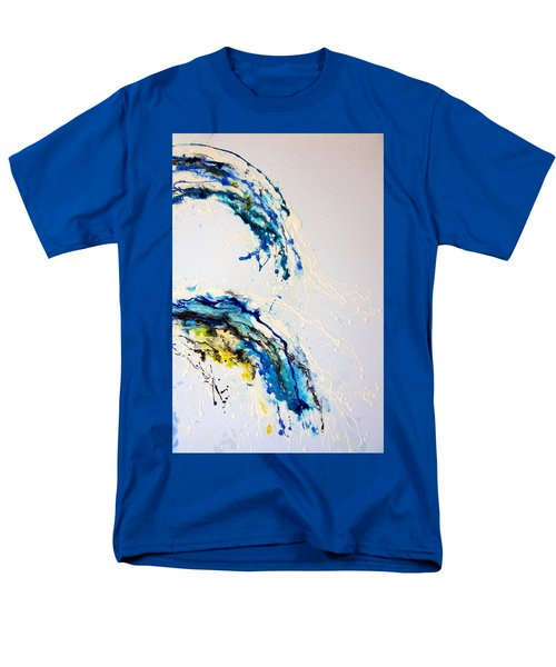 Men's T-Shirt  (Regular Fit) featuring the painting The Wave 3 by Roberto Gagliardi