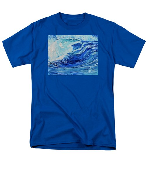 Men's T-Shirt  (Regular Fit) featuring the painting The Wave by Teresa Wegrzyn