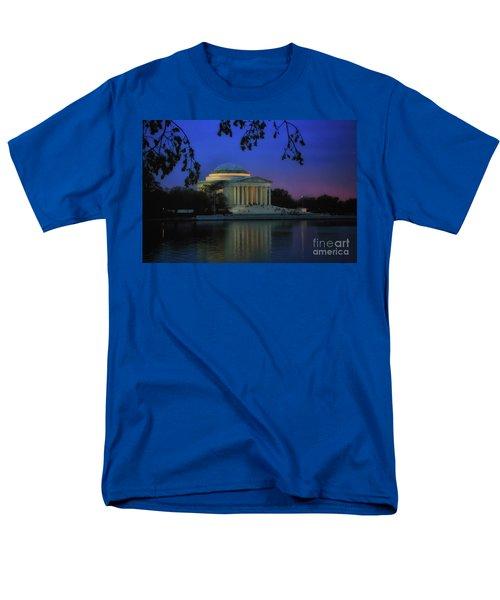 Thomas Jefferson Memorial Sunset Men's T-Shirt  (Regular Fit) by Elizabeth Dow