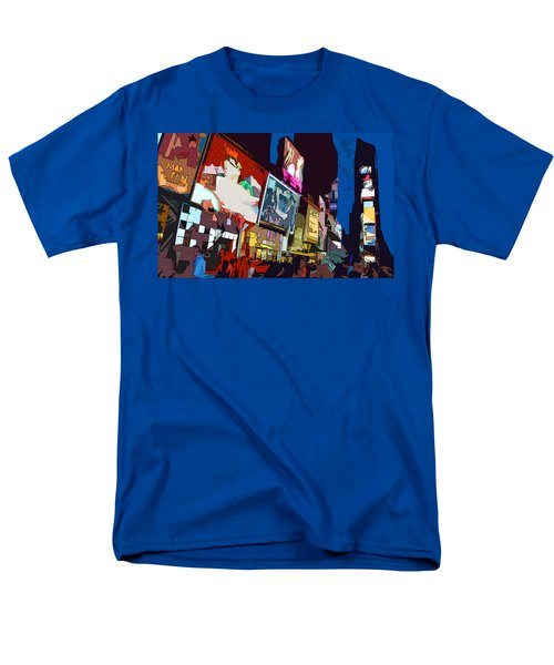Men's T-Shirt  (Regular Fit) featuring the photograph Times Square by Christopher Woods