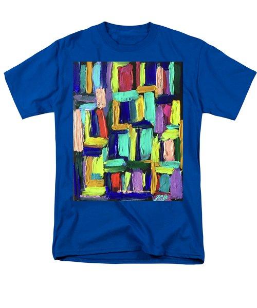 Times Square Nighttime Men's T-Shirt  (Regular Fit) by Brenda Pressnall