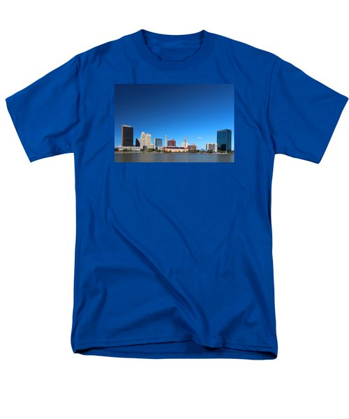 Men's T-Shirt  (Regular Fit) featuring the photograph Toledo Skyline I by Michiale Schneider