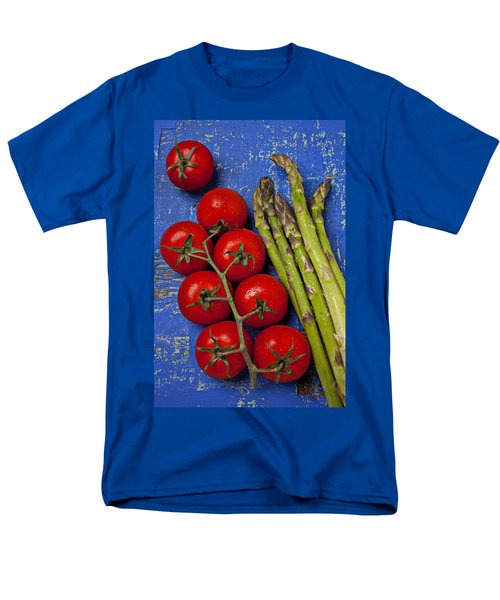 Tomatoes And Asparagus  Men's T-Shirt  (Regular Fit) by Garry Gay