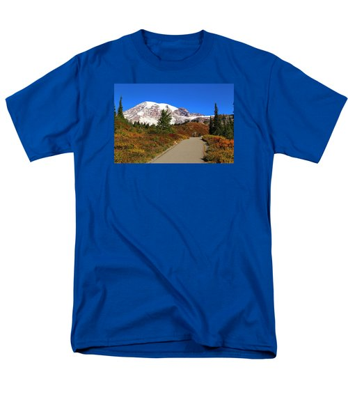 Men's T-Shirt  (Regular Fit) featuring the photograph Trail To Myrtle Falls by Lynn Hopwood