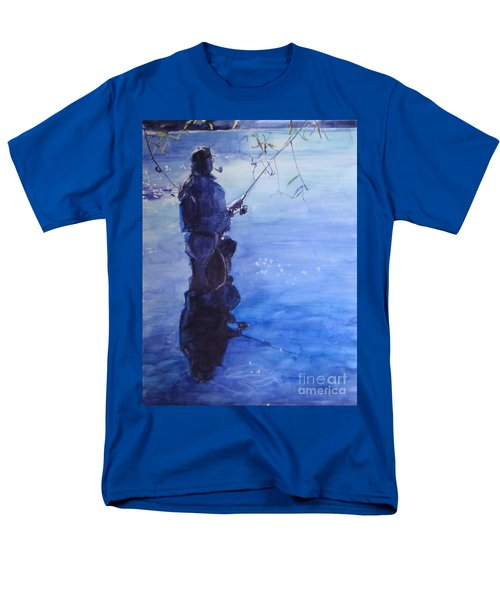 Tranquil Fishing Men's T-Shirt  (Regular Fit) by Greta Corens