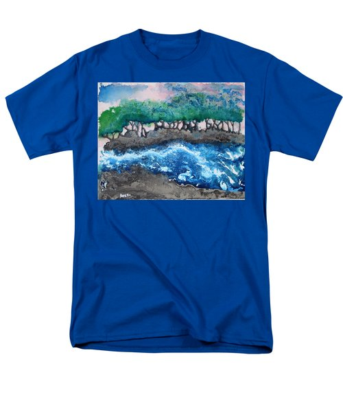 Men's T-Shirt  (Regular Fit) featuring the painting Turbulent Waters by Antonio Romero