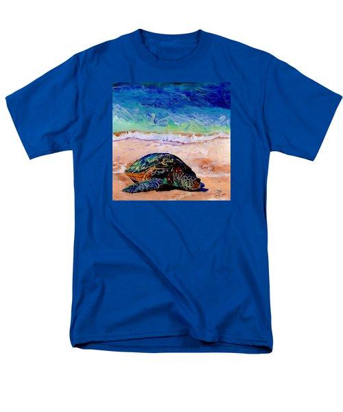 Turtle At Poipu Beach 9 Men's T-Shirt  (Regular Fit) by Marionette Taboniar