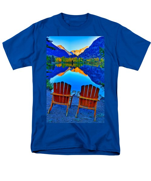 Two Chairs In Paradise Men's T-Shirt  (Regular Fit) by Scott Mahon