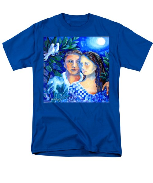 Men's T-Shirt  (Regular Fit) featuring the painting Two Turtle Doves  by Trudi Doyle
