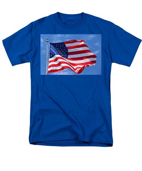United States Flag Men's T-Shirt  (Regular Fit) by Elizabeth Budd