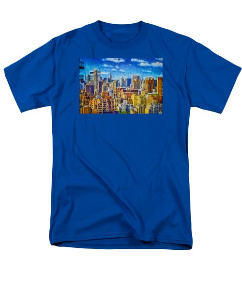 Men's T-Shirt  (Regular Fit) featuring the digital art Upper Eastside Skyline by Kai Saarto