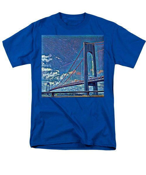 Verrazano Bridge Men's T-Shirt  (Regular Fit) by Rita Tortorelli