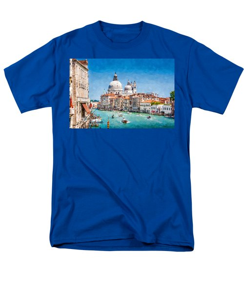 Men's T-Shirt  (Regular Fit) featuring the digital art View Of Canal Grande by Kai Saarto