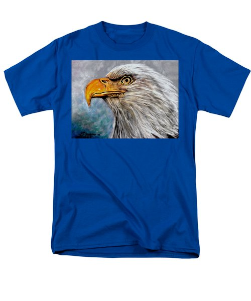 Men's T-Shirt  (Regular Fit) featuring the painting Vigilant Eagle by Patricia L Davidson