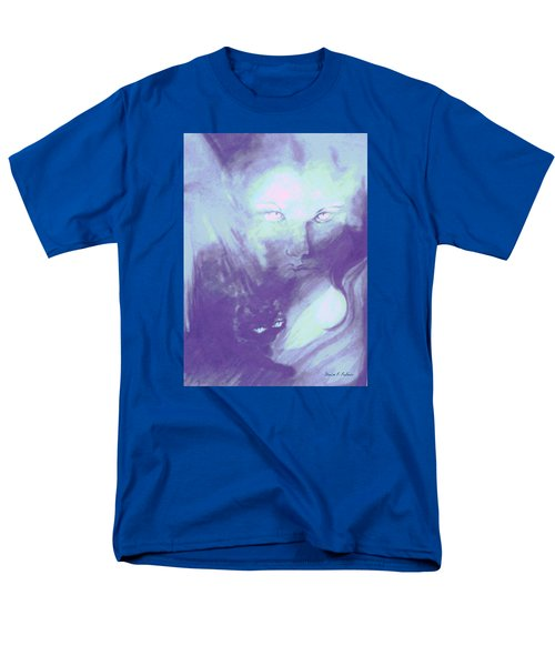Men's T-Shirt  (Regular Fit) featuring the painting Visions Of The Night by Denise Fulmer